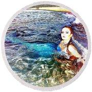 Mermaid Shores Round Beach Towel