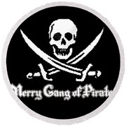 Merry Gang Of Pirates Round Beach Towel