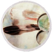 Round Beach Towel featuring the photograph Messages From Above by Randi Grace Nilsberg