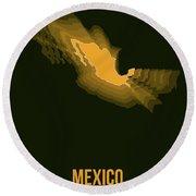 Mexico Radiant Map I Round Beach Towel