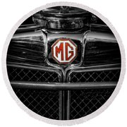 Mg Grill Badge Round Beach Towel
