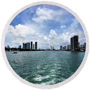 Miami2 Round Beach Towel