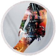Michael Jackson's This Is It 2009 Round Beach Towel