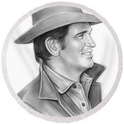 Michael Landon Round Beach Towel