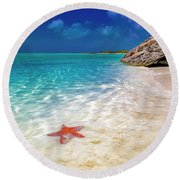 Middle Caicos Tranquility Awaits Round Beach Towel