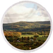 Round Beach Towel featuring the photograph Middleburg In New York by Angie Tirado