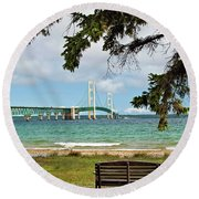 Mighty Mac Round Beach Towel