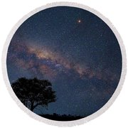 Milky Way Over Africa Round Beach Towel