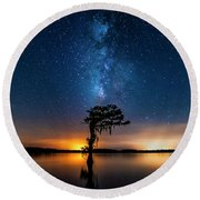 Milky Way Swamp Round Beach Towel