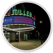 Miller Theater Augusta Ga 2 Round Beach Towel