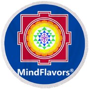 Mindflavors Small Round Beach Towel