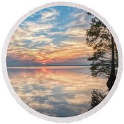 Mirrored Round Beach Towel