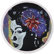 Miss Holiday Round Beach Towel