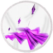 Missile Command Purple Round Beach Towel