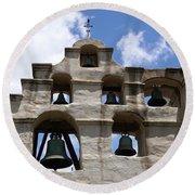 Mission Bells Round Beach Towel
