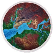 Mission River Round Beach Towel