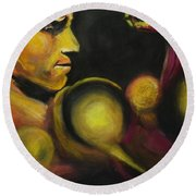 Mister Of The Universe Round Beach Towel