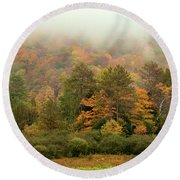 Misty Mountain Round Beach Towel