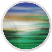 Moment Of Tangency Round Beach Towel