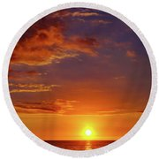 Monday Sunset Round Beach Towel