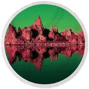 Mono Lake California 99 - Pop Art Round Beach Towel