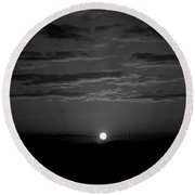 Round Beach Towel featuring the photograph Monochrome Sunrise by Bee-Bee Deigner