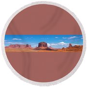 Monument Lookout Round Beach Towel