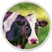 Moo Cow Round Beach Towel