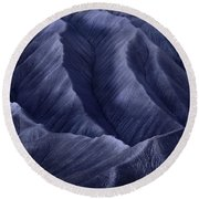 Moon Light Mountainside Round Beach Towel
