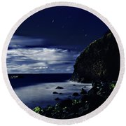 Moonlight At Argyle Round Beach Towel