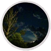 Moonlight In The Trees Round Beach Towel