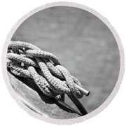 Mooring Rope 3 Round Beach Towel