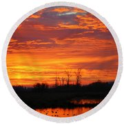 More Sunrise Reflections Round Beach Towel