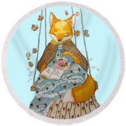 Morgan's Fox Round Beach Towel