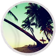 Morning Gaze Round Beach Towel