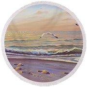 Morning Glisten Round Beach Towel