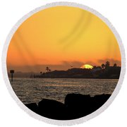 Morning Glow Round Beach Towel