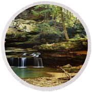 Morning In The Gorge Round Beach Towel