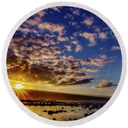 Morning Sunrise Round Beach Towel