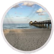 Morning Vibes Round Beach Towel