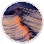 Morning Wave Round Beach Towel