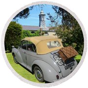 Morris Minor Grey Convertible Round Beach Towel