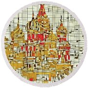 Moscow Round Beach Towel
