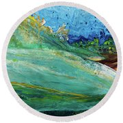 Mother Nature - Landscape View Round Beach Towel