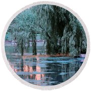 Mother Willow Infrared Round Beach Towel