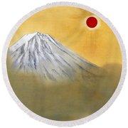 Mount Fuji - Kenkon Kagayaku - Top Quality Image Edition Round Beach Towel