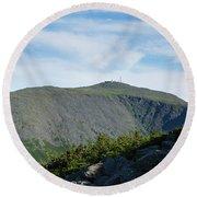 Mount Washington - Great Gulf, New Hampshire Round Beach Towel