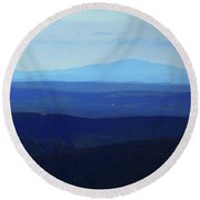 Round Beach Towel featuring the photograph Mount Monadnock From Mount Greylock by Raymond Salani III