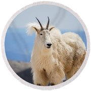 Mountain Goat Round Beach Towel