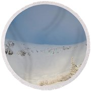 Mountain Light, Tuckerman Ravine Round Beach Towel